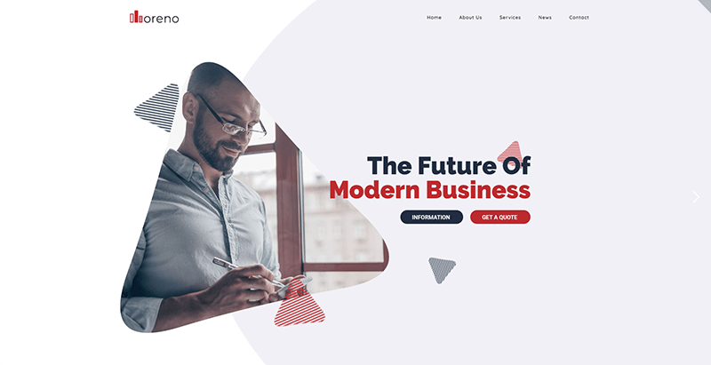 Moreno theme wordpress créer site web entreprise consulting