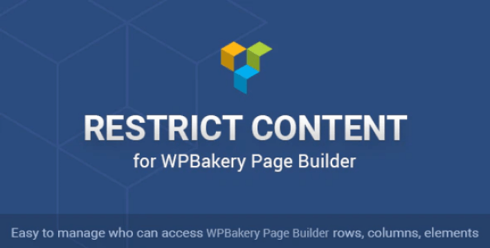 Restrict content for wpbakery page builder plagin wordpress