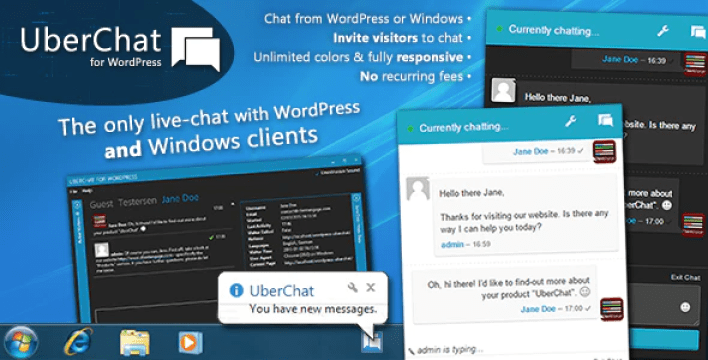 Uber chat ultimate live chat with windows client plugin wordpress