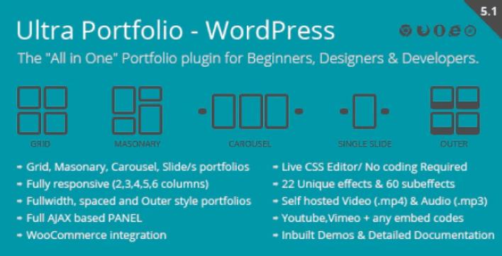 Ultra portfolio wordpress plugin