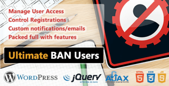 Wp ultimate ban users plugin wordpress