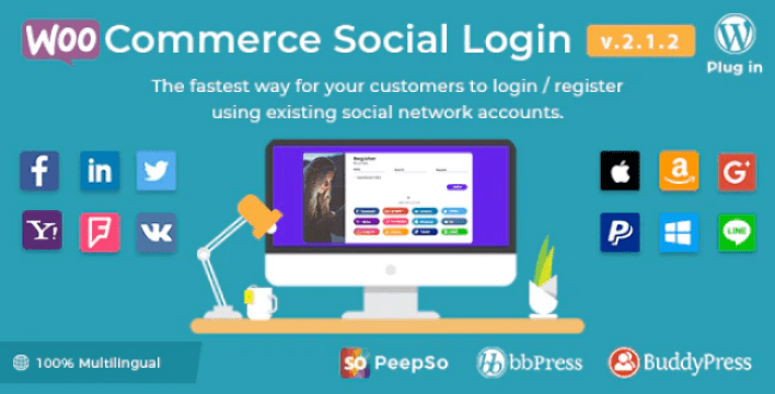 meilleurs plugins WordPress - WooCommerce social login