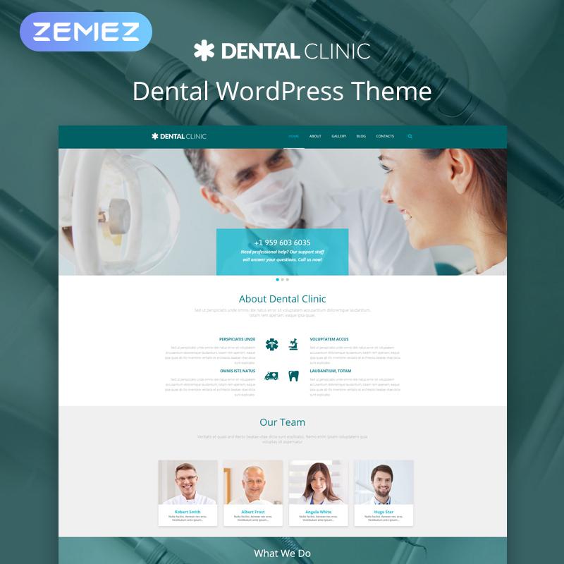 Стоматологическая - Современный Многоцелевой Медицинский Элемент WordPress Theme