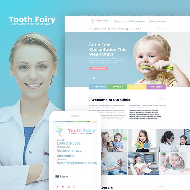 Pediatric Clinic WP Theme