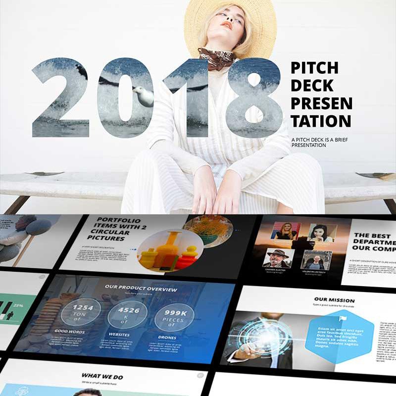 2018 Pitch Deck - Modèle PowerPoint innovant pour votre présentation parfaite