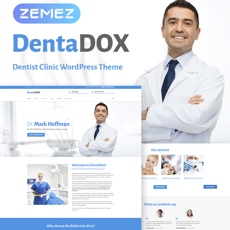 DentaDox - Denistry Clinic WordPress Tema