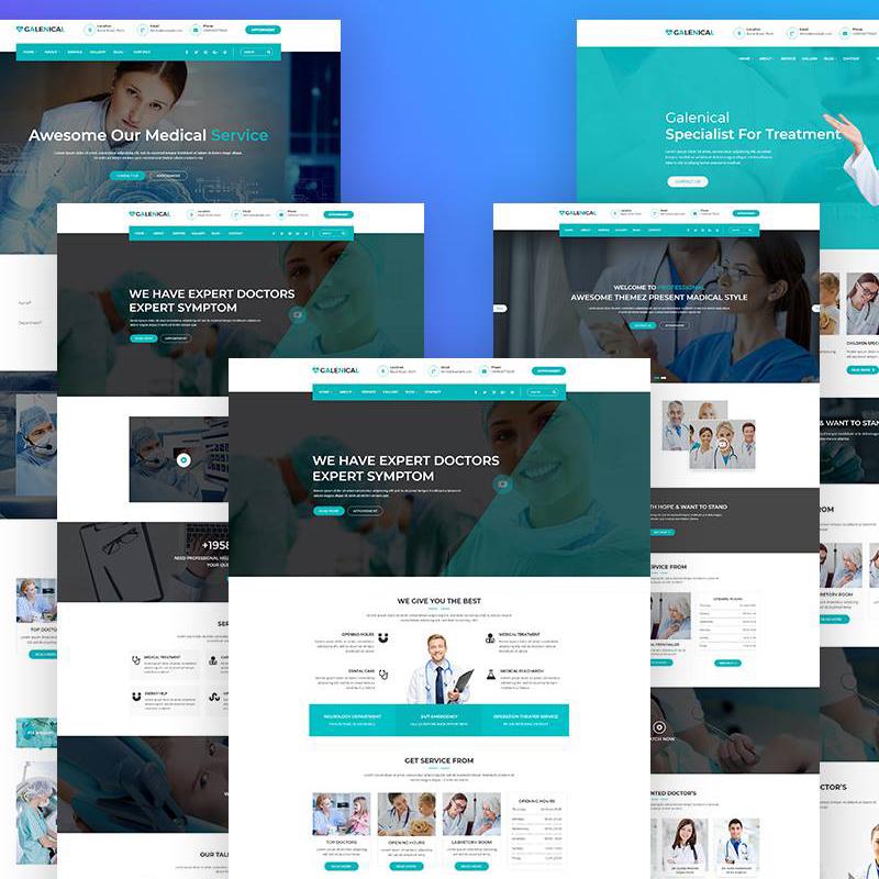 Galenical - медицинская и медицинская служба WordPress Theme