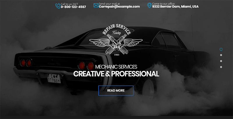Carrepair theme wordpress creer site internet concssionnaire auto