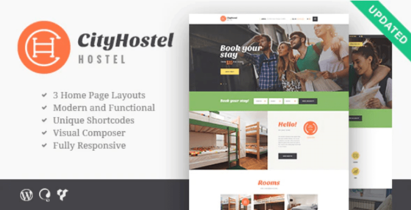 Cityhostel themes wordpress creer site web voyages agence tour operateur