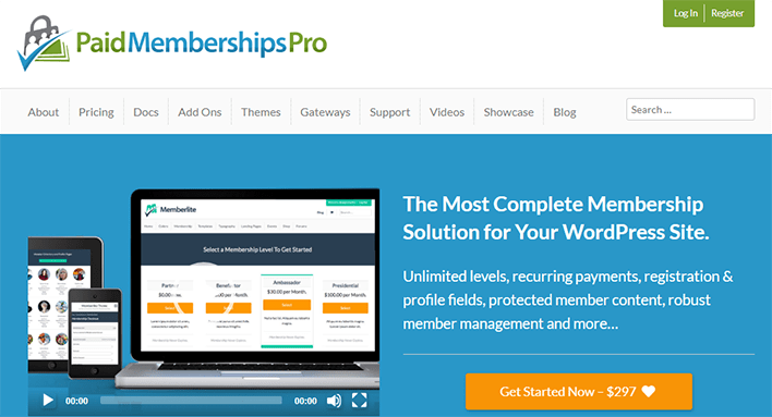 Paidmembershipspro plugin wordpress protection contenu