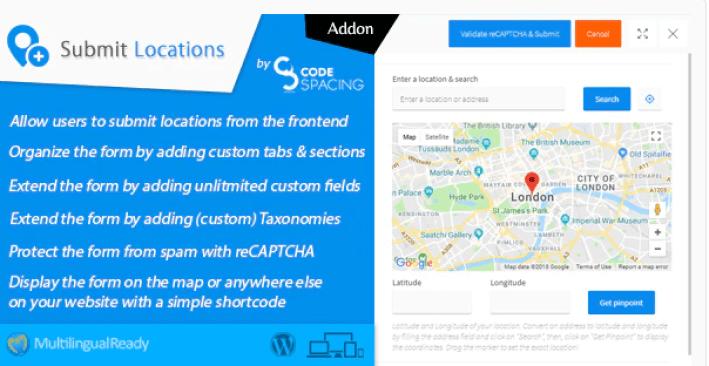 meilleurs plugins WordPress - Progress map submit locations