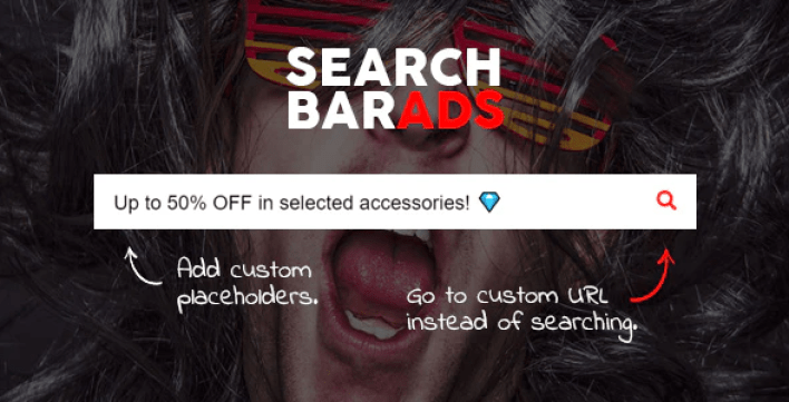 Search bar ads woocommerce plugin wordpress