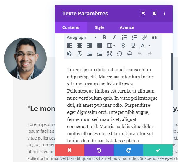 Ajouter un texte divi module
