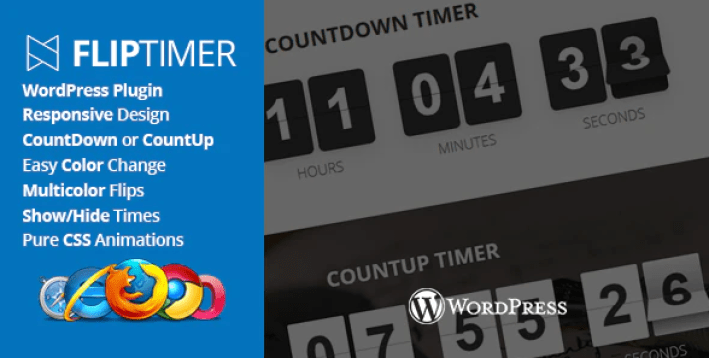 Fliptimer jquery countdown timer wordpress plugin