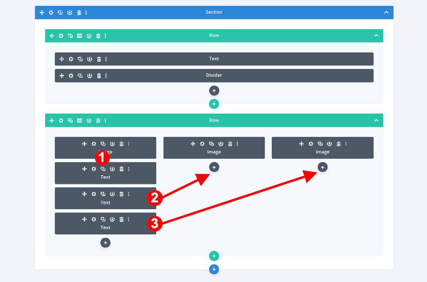 Dupliquer le module texte divi