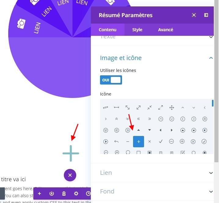 Modification module résumé icone