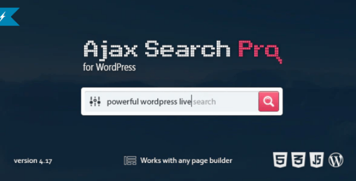 meilleurs plugins WordPress - Ajax search pro live
