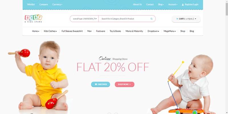 meilleurs thèmes WordPress - Baby kids store