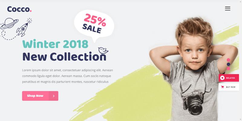 créerune boutique en ligne de vêtements pour enfants - cocco