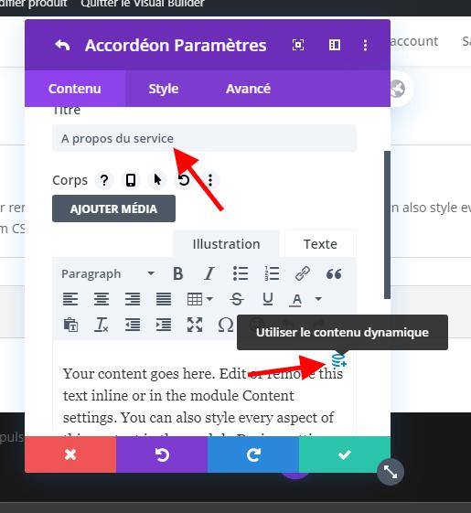 Utiliser du contenu dynamique wordpress woocommerce