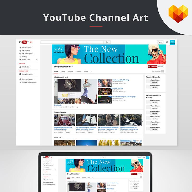 YouTube Cover Vorlage für den Fashion Store