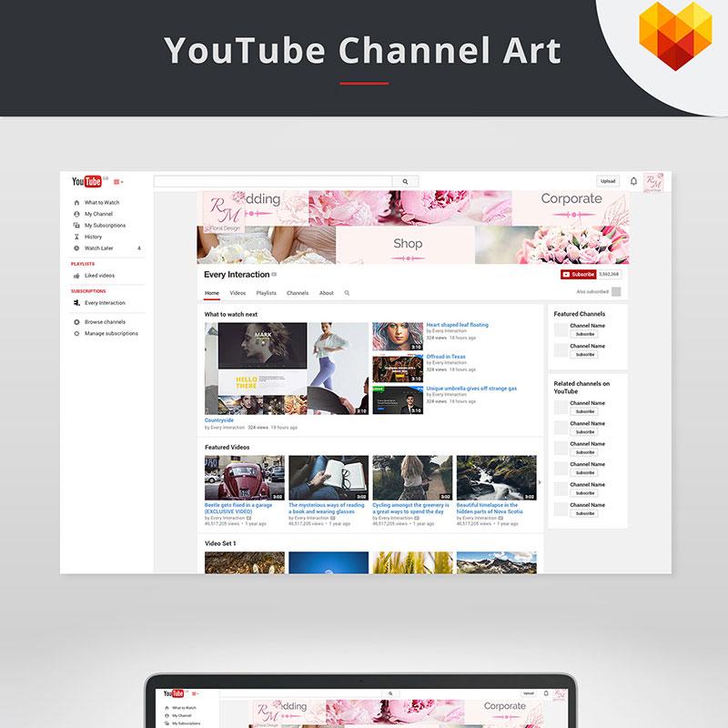 Modèle de couverture YouTube pour fleuriste