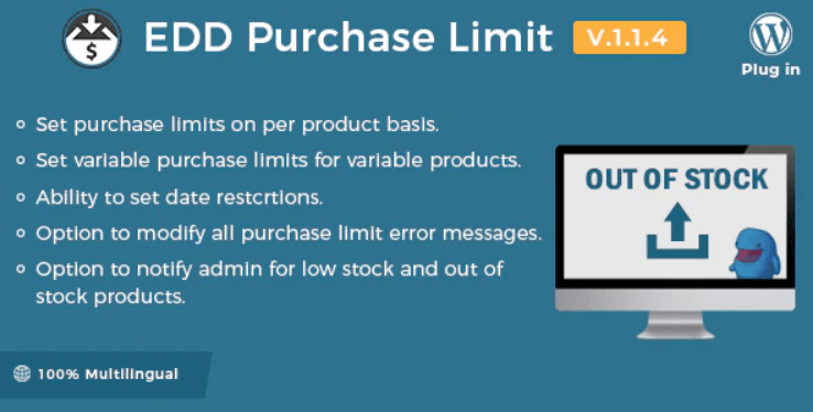 Easy digital downloads purchase limit plugin wordpress
