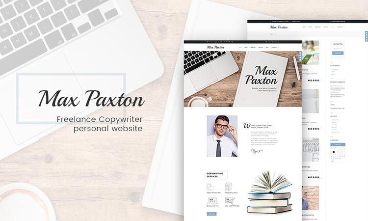 MaxPaxton - Rédactrice et journaliste indépendante thème WordPress adaptatif