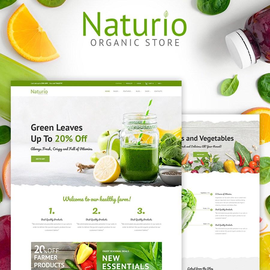 Naturio - Modèle de magasin d'alimentation thème WooCommerce adaptatif