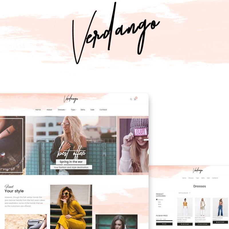 Verdango - Modewinkel Elementor adaptief WooCommerce-thema