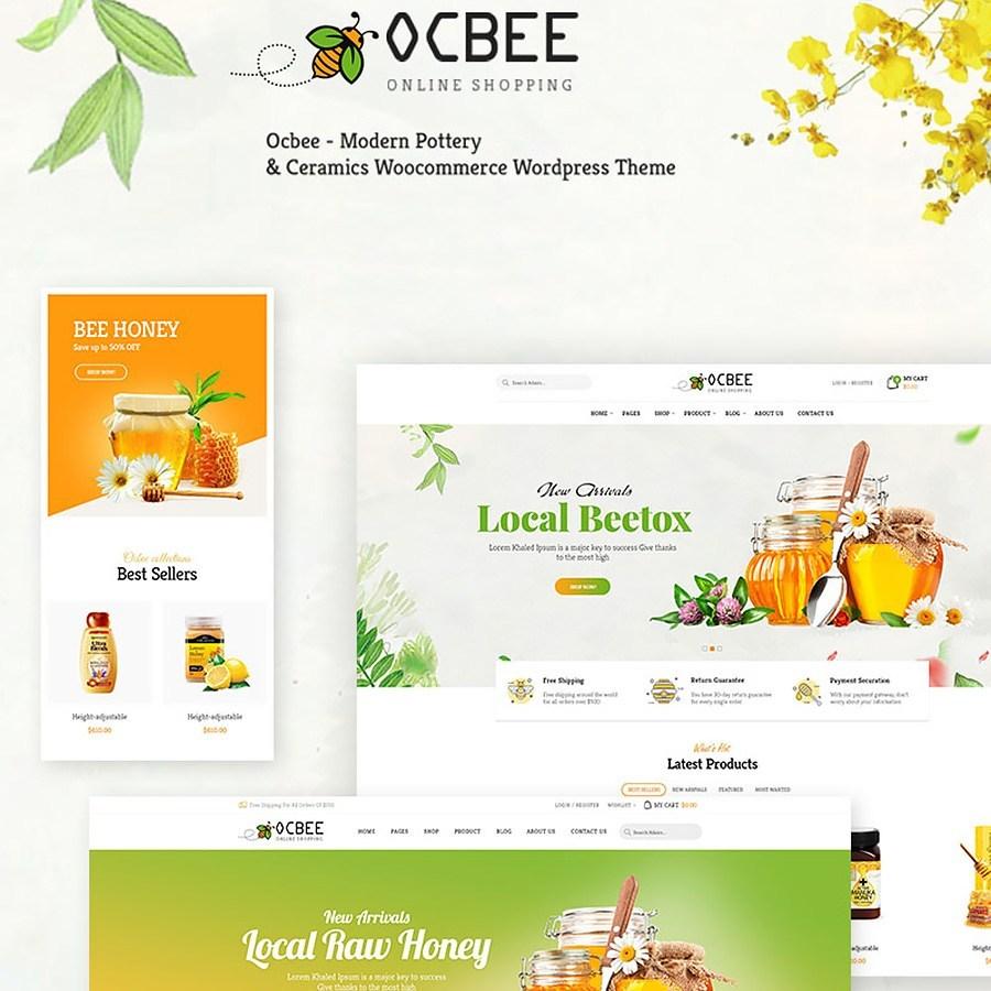 Ocbee - Honey Bee Production thème WooCommerce