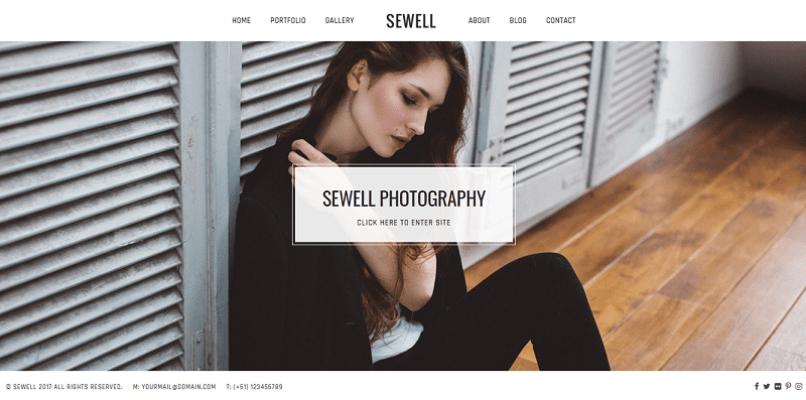thèmes WordPress pour créer un site Web de photographe - sewell