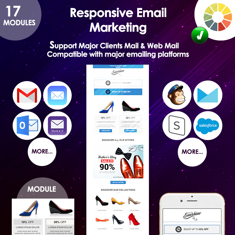 Email responsive marketing offers modèle Bulletin adaptatif