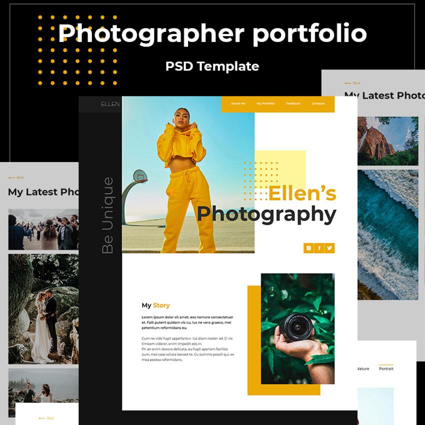 Ellen's Photography modèle PSD adaptatif