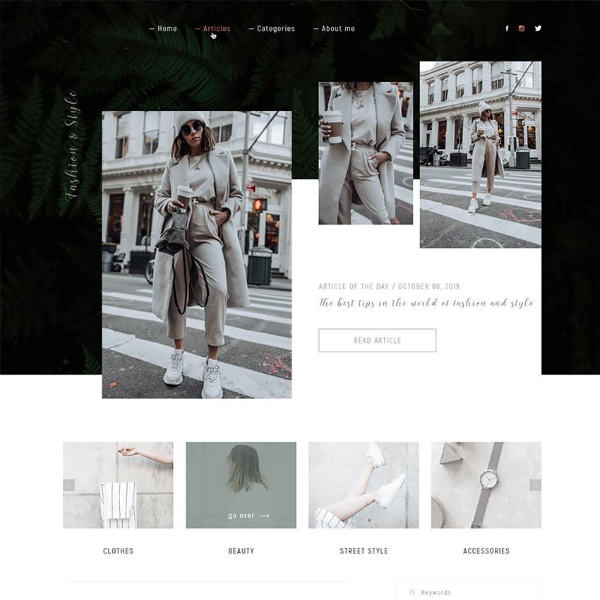 Fashion & Style modèle PSD