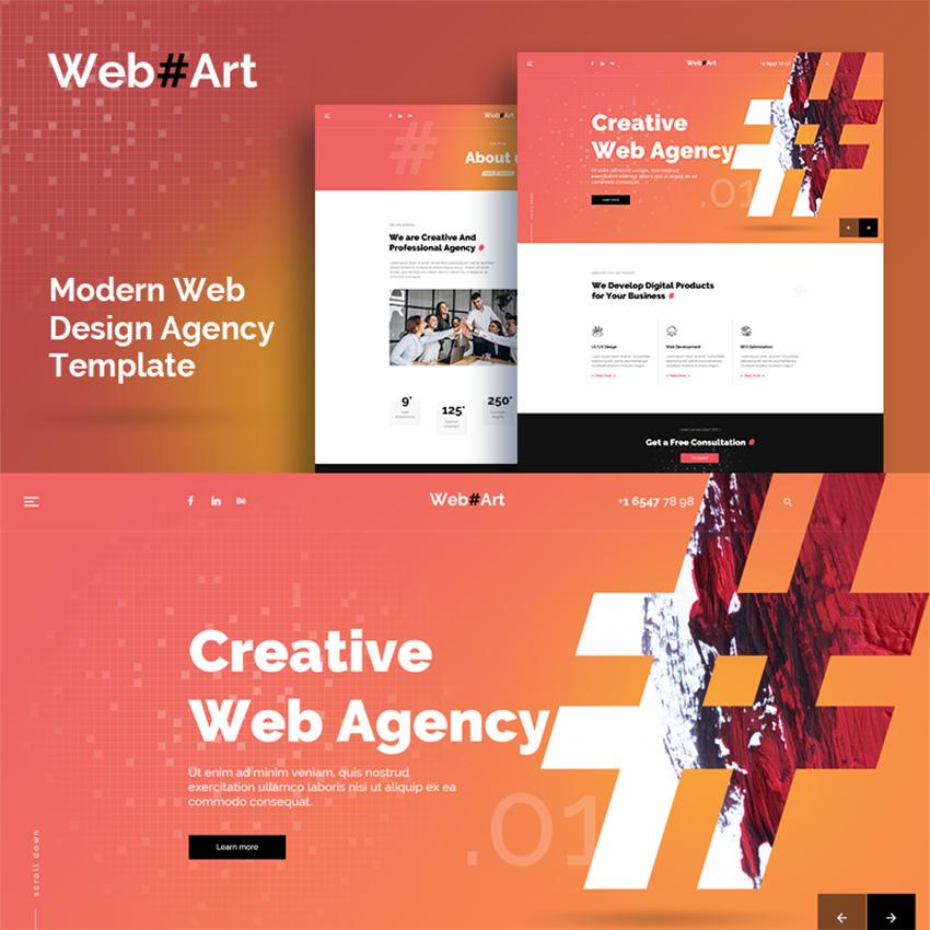 WebArt - Web Design Simple Creative modèle PSD
