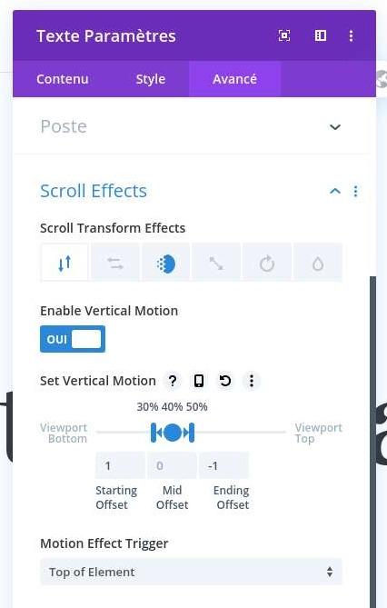 Modifier animation module texte