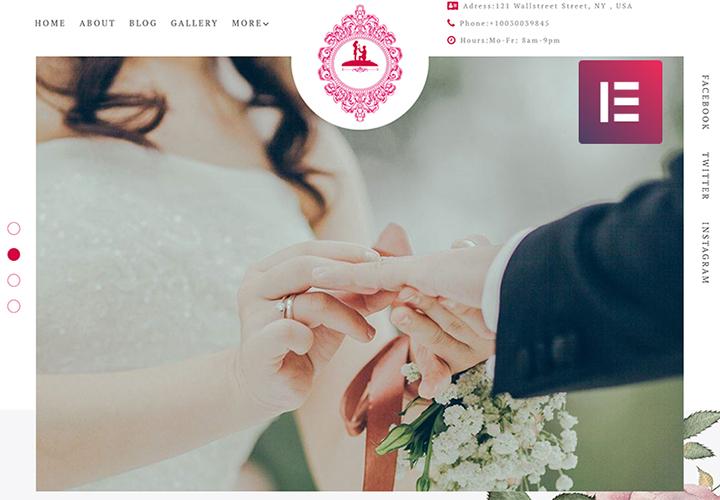 ForeverLove - Thème WordPress pour page d'atterrissage de site de mariage