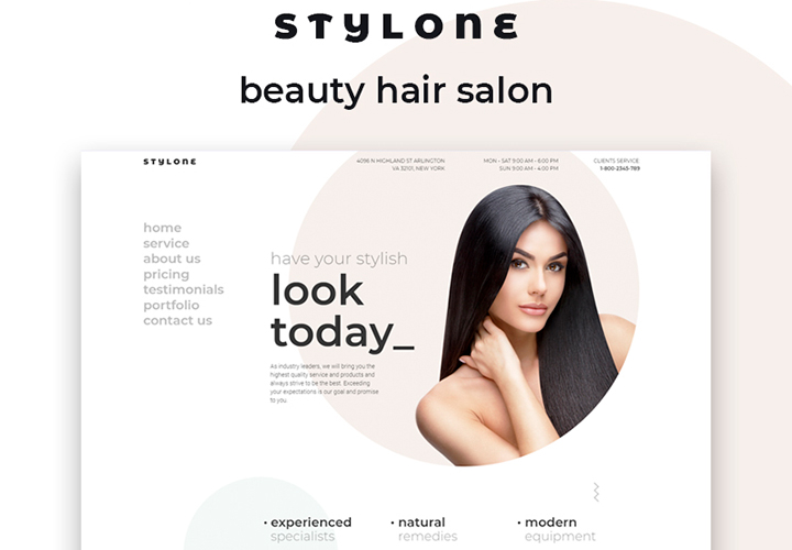 Stylone - Thème WordPress Elementor pour salon de coiffure et institut de beauté