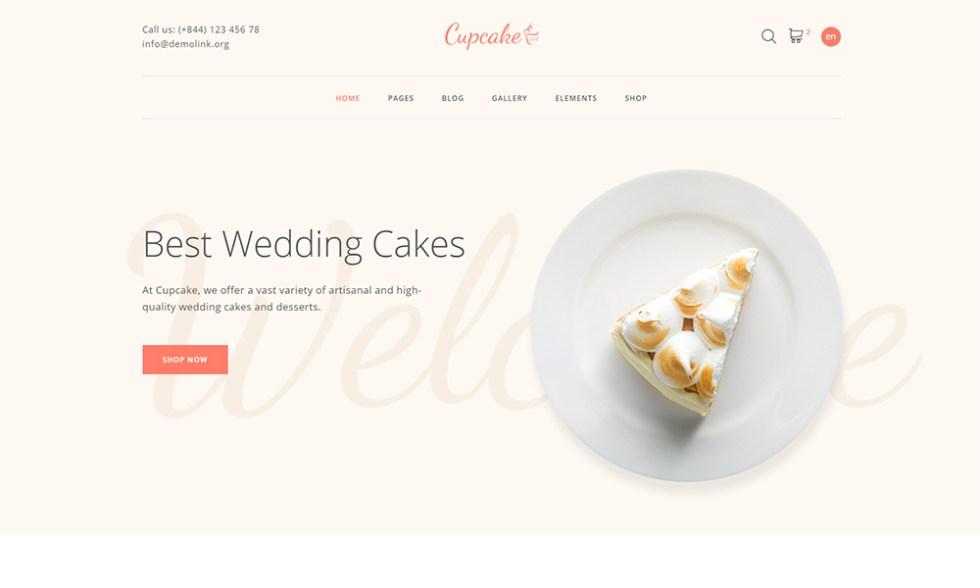 Modèle HTML pour site de pâtisserie - Cupcake