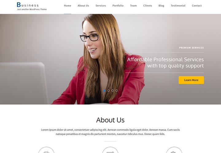 Business One Page - Thème WordPress pour site Web d'entreprise