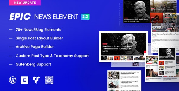 Epic news elementor