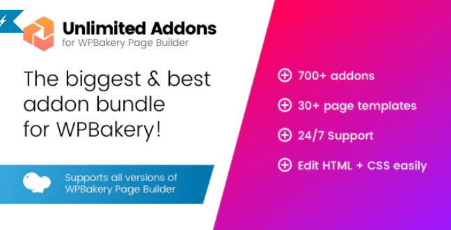 Unlimited addons for wpbakery page builder visual composer