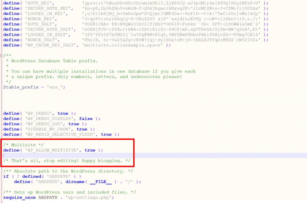 Comment configurer reseau multisite wordpress hébergeur blogpascher 2