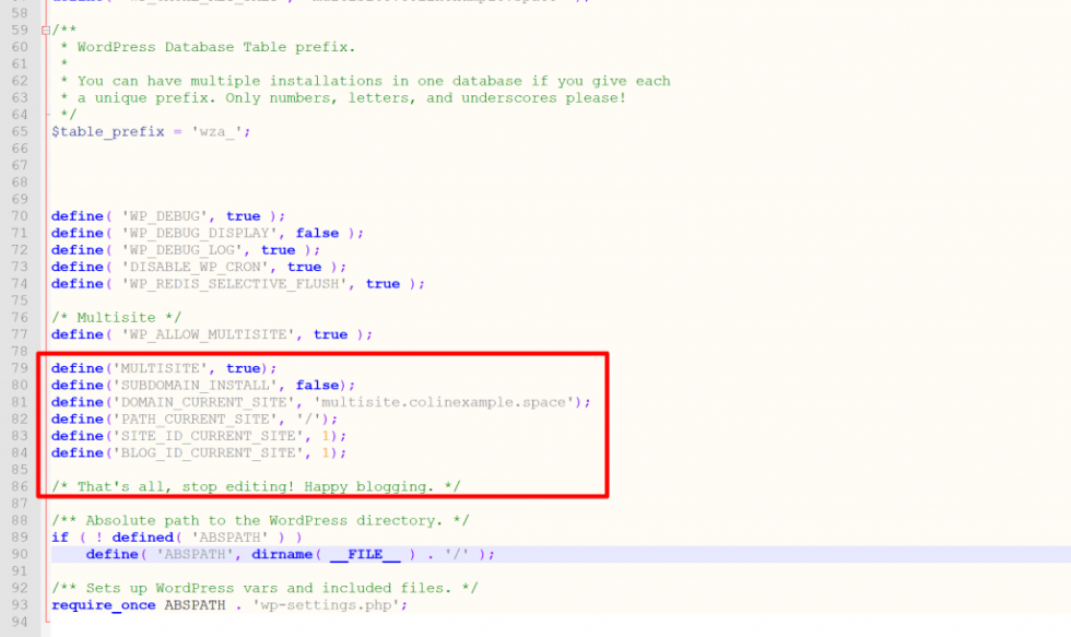 Comment configurer reseau multisite wordpress wp config blogpascher