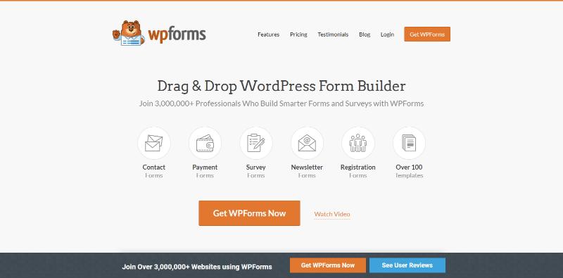 Meilleurs plugins wordpress authorize net blogpascher wpforms