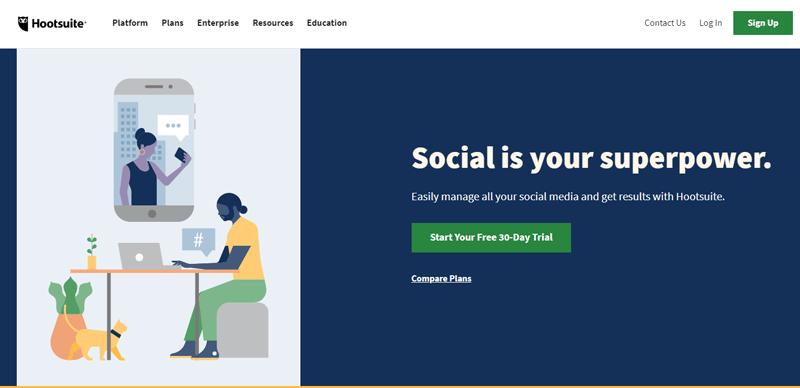 Outils automatisation marketing petites entreprises hootsuite blogpascher