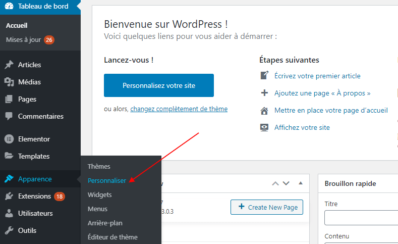 Comment acceder customizer theme wordpress blogpascher