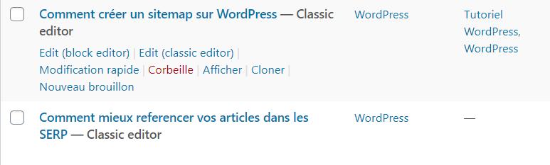Comment dupliquer article survoler publication