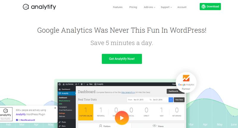Плагин Google Analytics analytify blogpascher